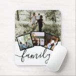 "Personalized Keepsake 4 Photo Collage Family Mouse Pad<br><div class=""desc"">Photo collage with 4 template options and typography text saying family - perfect photo mouse pad from Ricaso</div>"