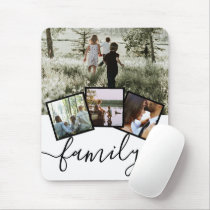 Personalized Keepsake 4 Photo Collage Family Mouse Pad