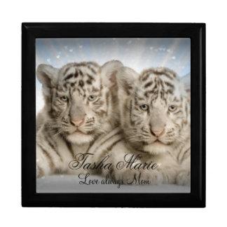 Personalized Keepsake Box Large/White Tiger