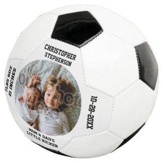 Personalized Keepsake New Baby Boy Custom Soccer Ball