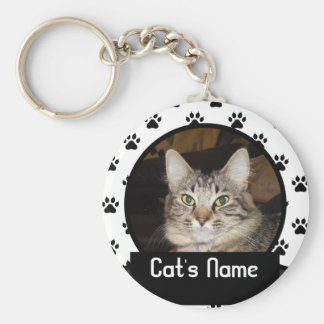 Personalized Keychain of Your Pet Cat