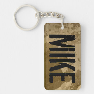 Personalized keychain with name   Distressed look