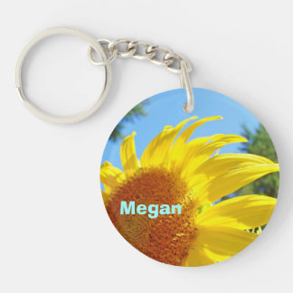 Personalized Keychains Add Name Sunflower Summer