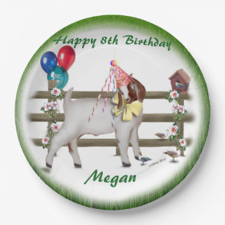 Personalized Kid Goat Theme Birthday Party Plates