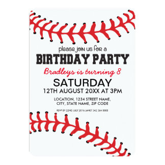 PERSONALIZED KIDS BASEBALL BIRTHDAY INVITATION