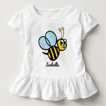 Personalized Kids Bee Cute Yellow Bumblebee Girls Toddler T-shirt