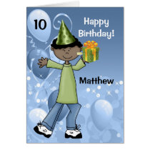 Personalized Kid's Birthday with Age for a Boy Card