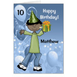 Personalized Kid's Birthday with Age for a Boy Greeting Card