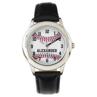 Personalized Kids Boys Baseball Watch at Zazzle