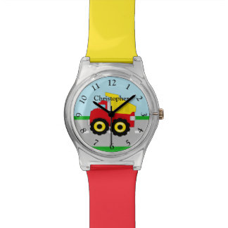 Personalized Kids Boys Construction Dump Truck Watch