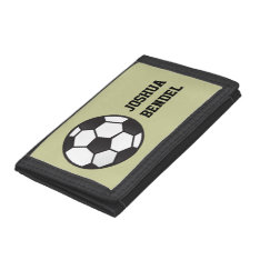 Personalized Kids Boys Soccer Wallet at Zazzle