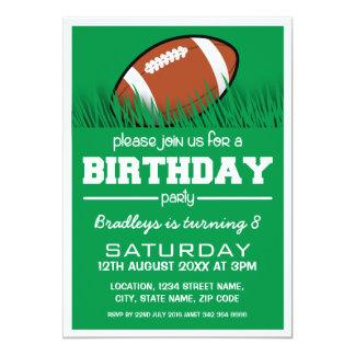PERSONALIZED KIDS FOOTBALL BIRTHDAY INVITATION