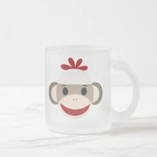 Personalized Kids Frosted Sock Monkey Mug