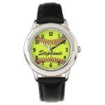 Personalized Kids Girl's Softball Watch