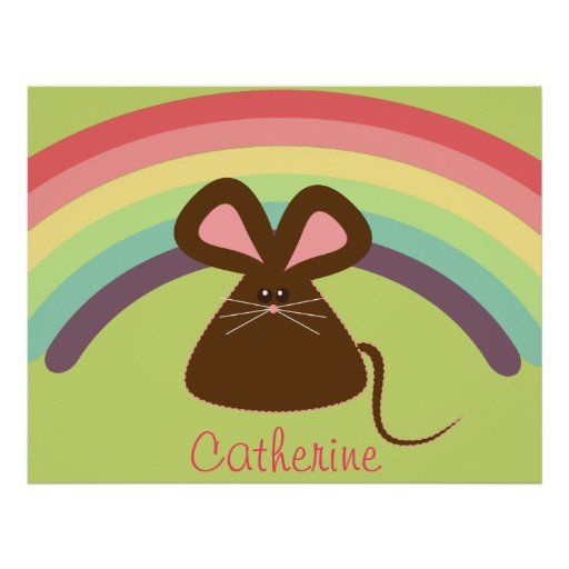 Personalized Kids Mouse Poster