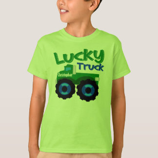 Personalized Kid's Name St. Patrick's Day Truck T-Shirt