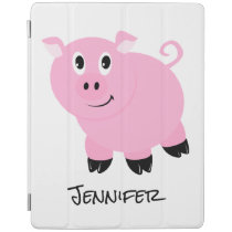 Personalized Kids Pink Pig Cute Little Pigs Animal iPad Smart Cover