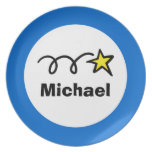 Personalized kids plate | Star design for children