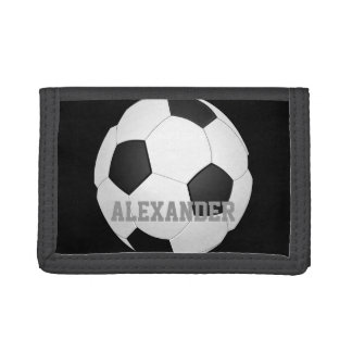 Personalized Kids Soccer Ball Tri-fold Wallet