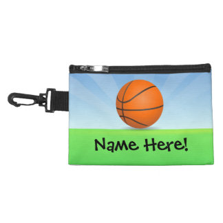 Personalized Kid's Sports Basketball Sunny Day Accessory Bag