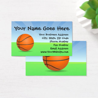 Personalized Kid's Sports Basketball Sunny Day Business Card