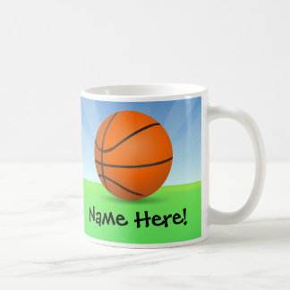 Personalized Kid's Sports Basketball Sunny Day Coffee Mug
