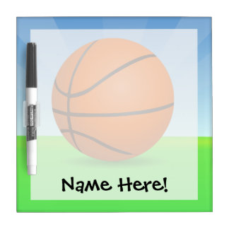 Personalized Kid's Sports Basketball Sunny Day Dry-Erase Board