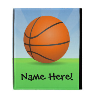 Personalized Kid's Sports Basketball Sunny Day iPad Folio Cases