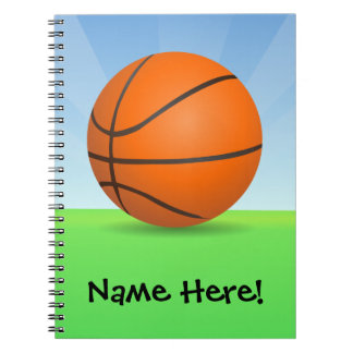 Personalized Kid's Sports Basketball Sunny Day Notebook