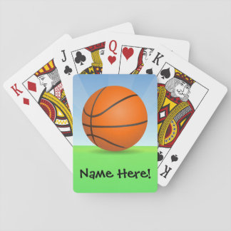 Personalized Kid's Sports Basketball Sunny Day Playing Cards