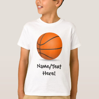 Personalized Kid's Sports Basketball Sunny Day T-Shirt
