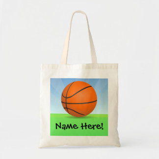 Personalized Kid's Sports Basketball Sunny Day Tote Bag
