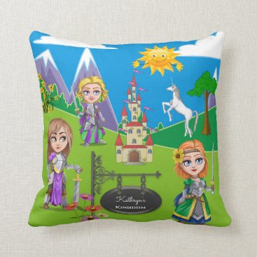 Beach Themed Personalized Kingdom Reversible Throw Pillow