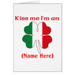Personalized Kiss Me I'm an African American postc Greeting Cards