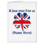 Personalized Kiss Me I'm British Greeting Card