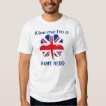 Personalized Kiss Me I'm British Tshirt