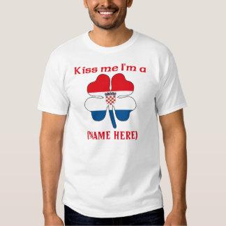 Personalized Kiss Me I'm Croatian Tshirt