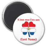 Personalized Kiss Me I'm Dutch  Magnet