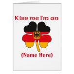 Personalized Kiss Me I'm German Greeting Card