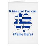 Personalized Kiss Me I'm Greek Greeting Card