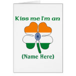 Personalized Kiss Me I'm Indian Greeting Card