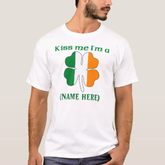 Personalized Kiss Me I'm Irish Tshirt
