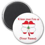 Personalized Kiss Me I'm Lebanese  Magnet