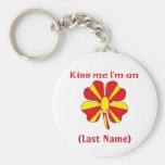 Personalized Kiss Me I'm Macedonian Keychain