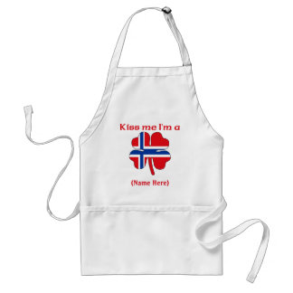 Personalized Kiss Me I'm Norwegian Apron