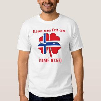 Personalized Kiss Me I'm Norwegian Tshirt