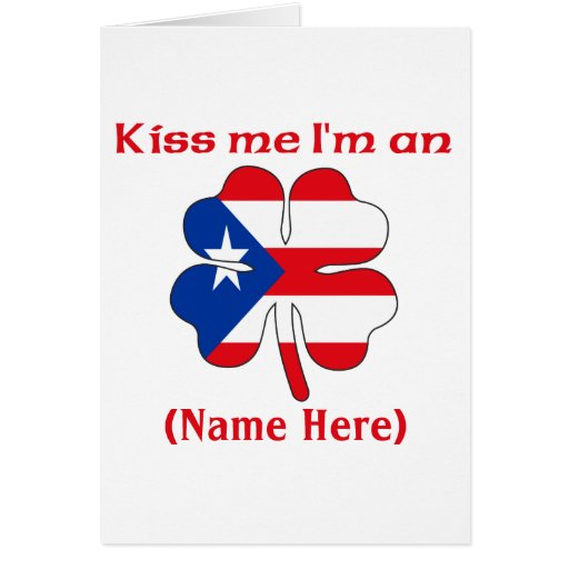 Personalized Kiss Me I'm Puerto Rican Greeting Car Greeting Card