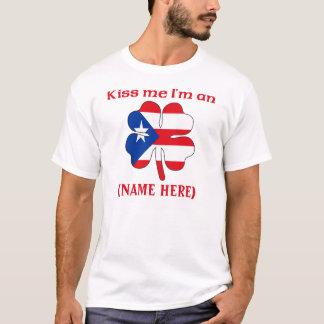 Personalized Kiss Me I'm Puerto Rican Tshirt