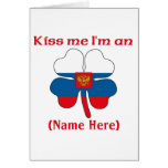 Personalized Kiss Me I'm Russian Greeting Card