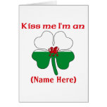 Personalized Kiss Me I'm Ukrainian Greeting Card